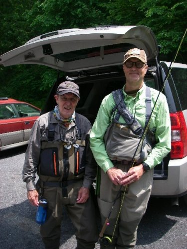 Lyle Hunger and Ken Bowyer at Morgan Run