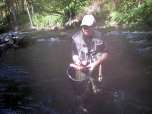 Steve Graves at the PhD Pool on the Savage River
